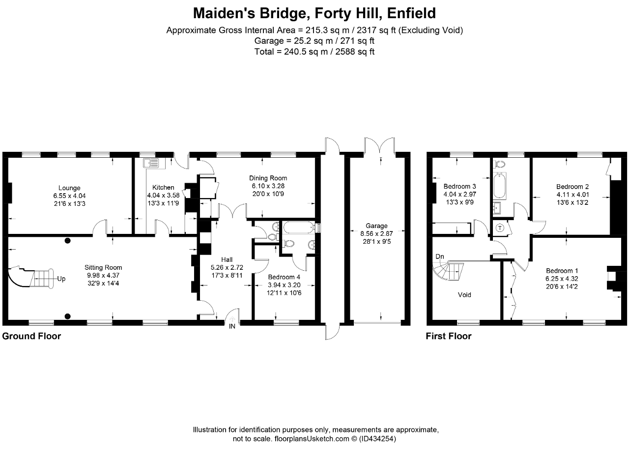 Floorplan of Turkey Street, Maidens Bridge, Enfield, EN1 4RJ