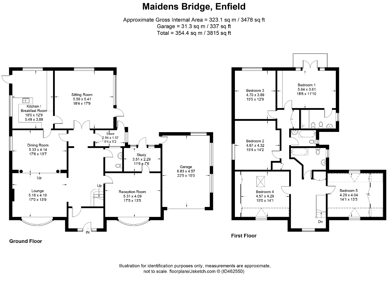 Floorplan of Turkey Street, Maiden's Bridge, Enfield, EN1 4RJ