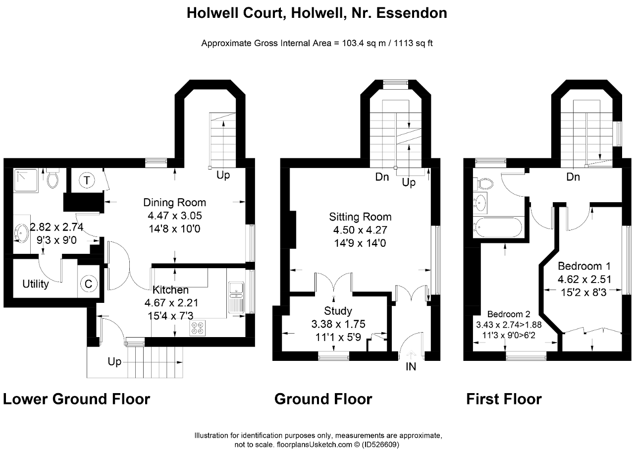 Floorplan of Holwell Court, Holwell, Nr. Essendon, Hertfordshire, AL9 5RL