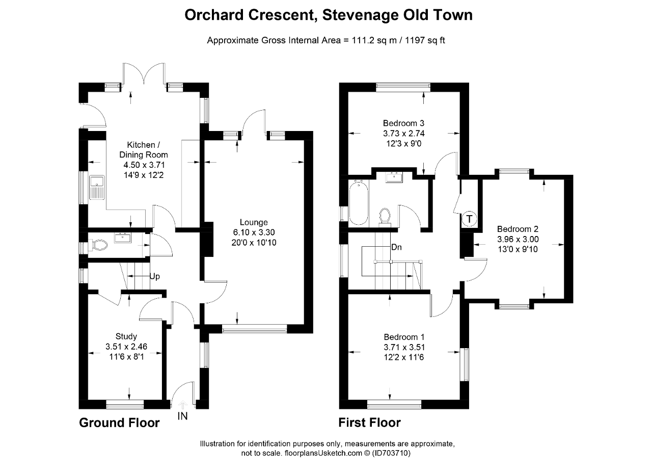 Floorplan of Orchard Crescent, Old Town, Stevenage, SG1 3EW